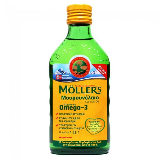Moller's Μουρουνέλαιο (Cod Liver Oil) Natural Flavour 250ml