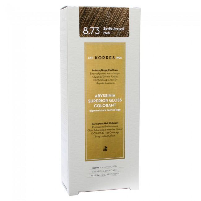 Βαφη μαλλιων Korres Abyssinia 8.73 Ξανθο Ανοιχτο Μελι - youpharmacy.gr 1594fb4fd2c