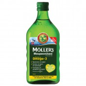 Moller's Μουρουνέλαιο (Cod Liver Oil) Lemon Flavour 250ml