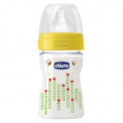 Chicco Πλαστικό Μπιμπερό Well Being Κανονικής Ροής Θηλή Σιλικόνης 150ml (20611-30)
