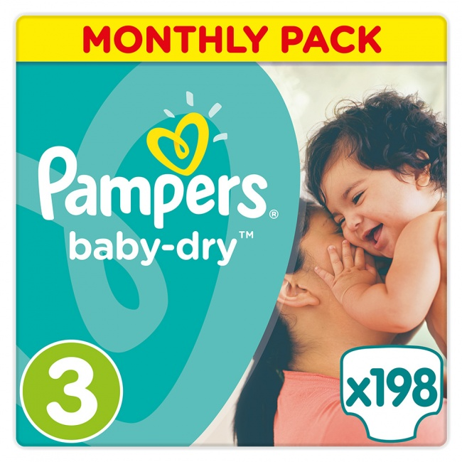 e30ab21af8f Pampers Baby Dry Monthly Pack No 3 Midi 4-9Kg 198 τμχ