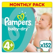 Pampers Baby Dry Monthly Pack No 4+ Maxi+ 9-20Kg 152 τμχ