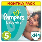 Pampers Baby Dry Monthly Pack No 5 Junior 11-25Kg 144 τμχ