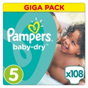 Pampers Baby Dry Giga Pack No 5 Junior 11-25Kg 108 τμχ