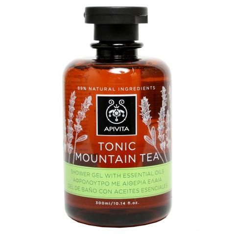Apivita Tonic Mountain Tea Shower Gel με Αιθέρια Έλαια 300ml αρχική   καλλυντικα   περιποιηση σωματοσ   αφρόλουτρα   καθαριστικά