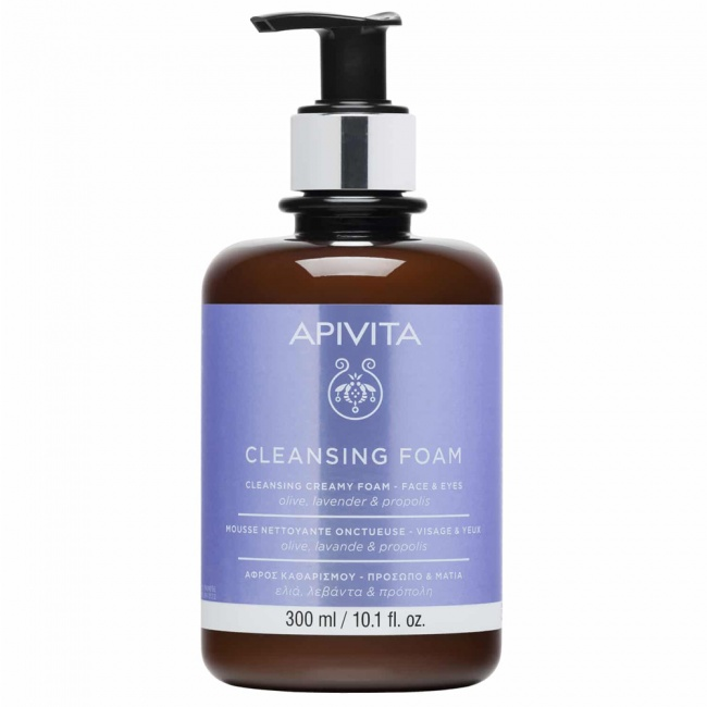 Apivita Κρεμώδης Αφρός Καθαρισμού για Πρόσωπο & Μάτια με Ελιά & Λεβάντα Limited Edition
