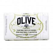 Korres Pure Greek Olive Παραδοσιακό Πράσινο Σαπούνι Ελιά &  Άνθη Ελιάς 125gr