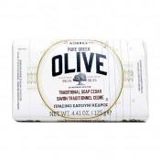 Korres Pure Greek Olive Παραδοσιακό Πράσινο Σαπούνι Ελιά & Κέδρος 125gr