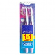Oral B Οδοντόβουρτσα Complete Clean 3D White 35 Medium 1+1 ΔΩΡΟ