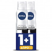 Nivea Black & White Clear Invisible Spray 48h 150ml 1+1 ΔΩΡΟ