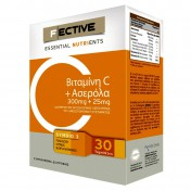 F Ective Vitamin C + Acerola + Zinc 30 tabs