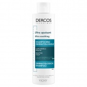 Vichy Dercos Ultra Soothing Shampoo Κανονικά Λιπαρά Μαλλιά 200ml