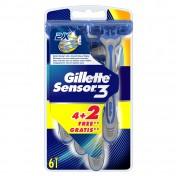 Gillette Sensor 3  4τμχ + 2τχμ ΔΩΡΟ