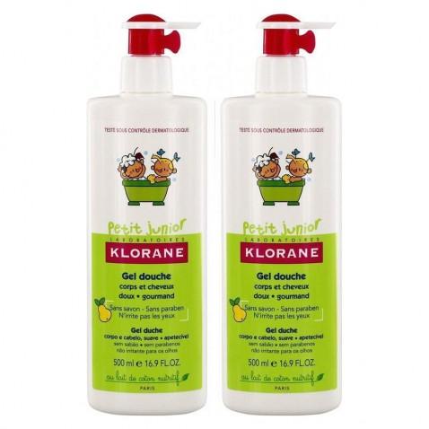 Klorane Petit Junior Duo Gel Douche Shampoo Poire 2x500ml