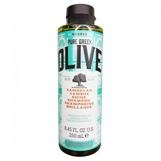 Korres Pure Greek Olive Σαμπουάν Λάμψης