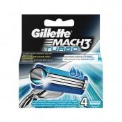Gillette Mach 3 Turbo Ανταλλακτικά  4 τεμ