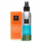 Apivita Suncare Promo Anti-Wrinkle Face Cream Spf 50 with Olive and Pro-Algae 50ml & ΔΩΡΟ Face Water Green Mountain 100ml