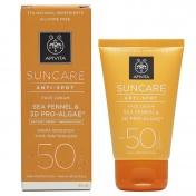 Apivita Suncare Anti-Spot Face Cream Spf50 Sea Fennel & 3D Pro-Algae 50ml