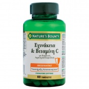 Nature's Bounty Echinacea και Vitamin C με Καρπούς Αγριοτριανταφυλλιάς 60tabs