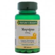 Nature's Bounty Magnesium 250mg 100tabs