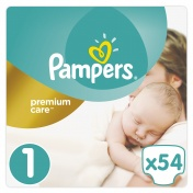 Pampers Premium Care Jumbo Pack No 1 Newborn 2-5 kg 54 τμχ