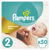 Pampers Premium Care Jumbo Pack No 2 Mini 3-6 kg 50 τμχ
