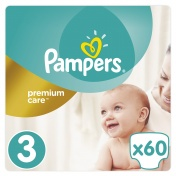Pampers Premium Care Jumbo Pack No 3 Midi 5-9 kg 60 τμχ