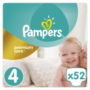 Pampers Premium Care Jumbo Pack No 4 Maxi 8-14 kg 52 τμχ