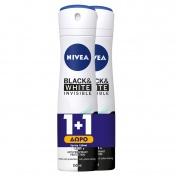 Nivea Black & White Active Invisible Spray 48h 150ml 1+1 ΔΩΡΟ