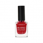 Korres Βερνίκι Νυχιών Gel Effect Nail Colour No 51 Rosy Red