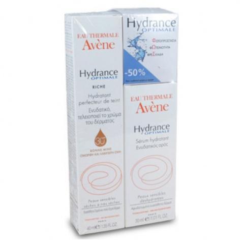 Avene Hydrance Optimale Serum 40ml & Hydrance Optimale Rich SPF30 Teint 30ml -50 αρχική   καλλυντικα   περιποιηση προσωπου   ενυδάτωση