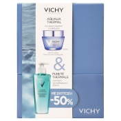 Vichy Promo Box Aqualia Thermal Light Cream 50ml & Purete Thermale Gel Nettoyant 200ml με έκπτωση -50%