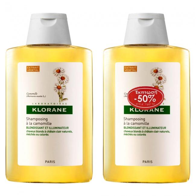 Klorane Shampoo Camomille 400ml Προσφορά το 2ο Προϊόν -50% 2x400ml