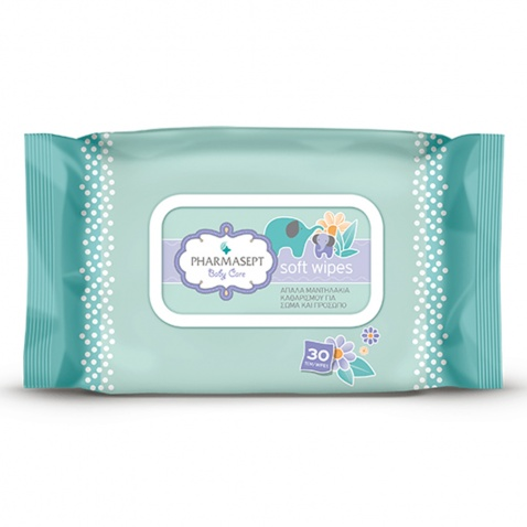 Pharmasept Baby Care Tol Velvet Soft Wipes 30τμχ