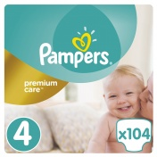 Pampers Premium Care Mega Pack No 4 Maxi 8-14 kg 104 τμχ