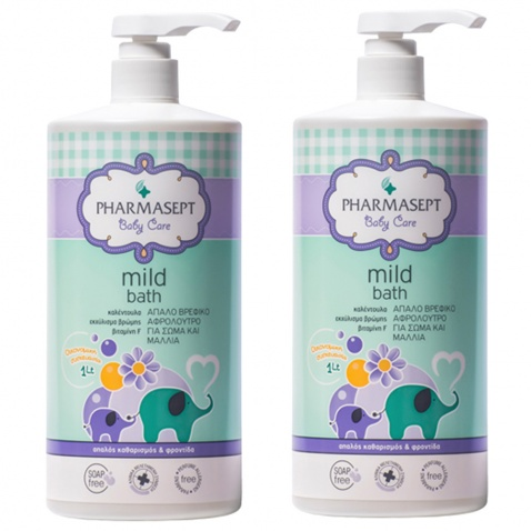 Pharmasept Baby Care Mild Bath 1Lt 2 τεμάχια