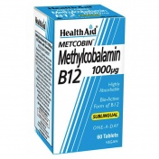 Health Aid Metcobin Methylcobalamin B12 1000mg 60tabs