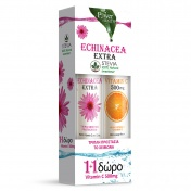 Power Health Echinacea Extra με Στέβια 24 Eff.Tabs γεύση Λεμόνι & ΔΩΡΟ Vitamin C 500mg Πορτοκάλι 20 Eff.Tabs