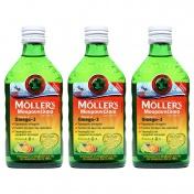 Moller's 3 (Τρία) Μουρουνέλαιο (Cod Liver Oil) Tutti Frutti Flavour 250ml