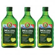 Moller's 3 (Τρία) Μουρουνέλαιο (Cod Liver Oil) Lemon Flavour 250ml