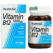 Health Aid Vitamin B12 1000mg 50 Tabs