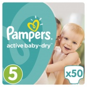 Pampers Active Baby Dry Jumbo Pack No 5 Junior 11-18Kg 50τμχ