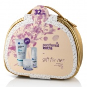 Panthenol Extra Gift for Her Face Cream Eye Serum & Cleansing Gel