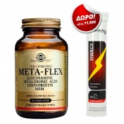 Solgar Meta-flex Glucosamine Hyaluronic Acid Chondroitin MSM 60 Tabs & ΔΩΡΟ My Elements Energy με Γεύση Φρούτων 20 Eff. Tabs