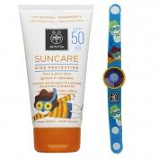 Apivita Suncare Kids Protection Face & Body Milk Spf 50 Apricot & Calendula 150ml & ΔΩΡΟ Φωτοευαίσθητο Παιδικό Βραχιόλι