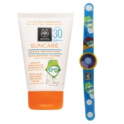 Apivita Suncare Babies Protection with Natural Filters Olive & Calendula SPF30 100ml & ΔΩΡΟ Φωτοευαίσθητο Παιδικό Βραχιόλι