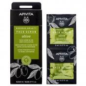 Apivita Express Beauty Scrub Προσώπου με Ελιά για Βαθιά Απολέπιση 2x8ml