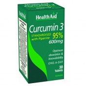 Health Aid Curcumin 3 with Piperine 600mg 30tabs