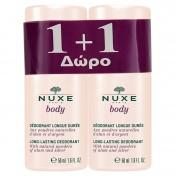Nuxe Body Deodorant Longue Duree 50ml 1+1 ΔΩΡΟ