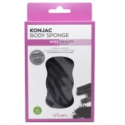 Vican Wise Beauty Konjac Body Sponge with Bamboo Charcoal Powder